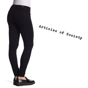 ARTICLES OF SOCIETY Black Skinny Plus Size Jeans